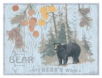 Bear's World Gray Fine-Art Print