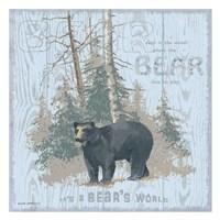 Bear's World Gray (square) Fine-Art Print