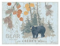 Bear's World Tan Fine-Art Print