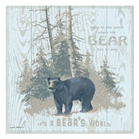 Bear's World Tan (square) Fine-Art Print