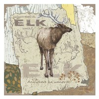 Elk Walk Fine-Art Print