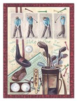 Golf Clubs and Golf Balls Fine-Art Print