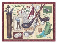Golf Clubs I Fine-Art Print