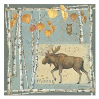 Moose (blue background) Fine-Art Print
