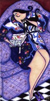 Big Diva In Kimono With Kitty Fine-Art Print