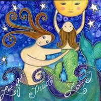 Big Diva Mermaid Mother's Love Fine-Art Print