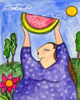 Big Diva With Watermelon Fine-Art Print