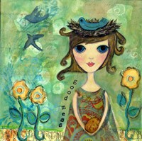 Big Eyed Girl A Good Mess Fine-Art Print
