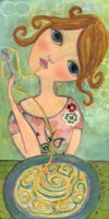 Big Eyed Girl Bon Appetit Fine-Art Print