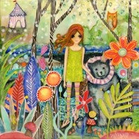 Big Eyed Girl Fingers Crossed Fine-Art Print