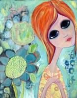 Big Eyed Girl Hope Garden Fine-Art Print