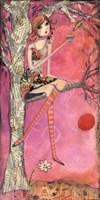 Big Eyed Girl Muffin Tree Fine-Art Print