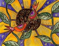 Birdies And Sunflower Fine-Art Print