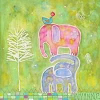Strong One Elephants Fine-Art Print