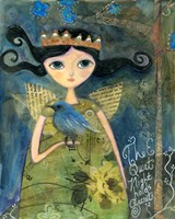 The Quiet Night Holds Secrets Big Eyed Girl Fine-Art Print