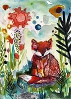 Baby Fox in the Garden Fine-Art Print