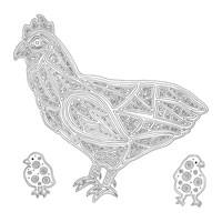 Hen And Baby Chicks Fine-Art Print