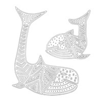 Mama And Baby Whales Fine-Art Print