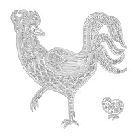 Rooster And Baby Chick Fine-Art Print