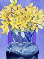 Daffodils In Cobalt Fine-Art Print