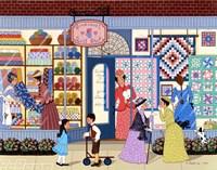 Sunbonnet Quilt Shop Fine-Art Print