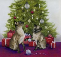 Christmas Siamese Cats Fine-Art Print