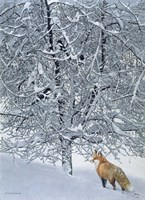 Fox In Snow Fine-Art Print