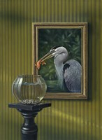 Heron And Goldfish Fine-Art Print