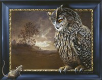 Eagle Owl And Mouse Fine-Art Print