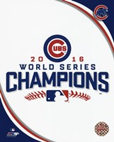 Chicago Cubs 2016 World Series Champions Logo Fine-Art Print
