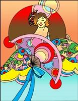 Art Deco Fan Lady Fine-Art Print