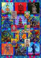 Pop Art Robots Fine-Art Print