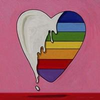 Pop Art Heart Drip Fine-Art Print