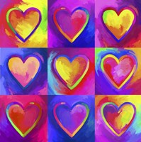 Pop Art Heart 2 Fine-Art Print