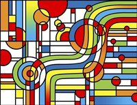 Pop Art Stripes Curve Fine-Art Print