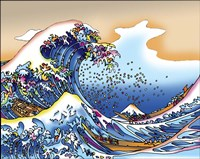 Pop Art Great Wave Fine-Art Print