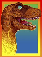 Pop Art Dinosaur 3 Fine-Art Print