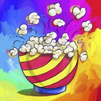 Pop Art Popcorn Bowl Fine-Art Print
