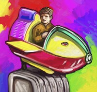 Kiddie Rocket Ride Fine-Art Print