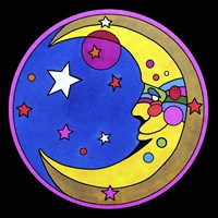 Pop Art Moon Circle Fine-Art Print