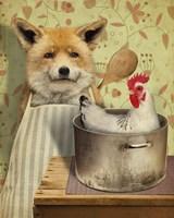 Fox And Chicken Fine-Art Print