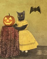 Pumpkin And Cat Fine-Art Print