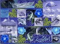Blue Coastal Mosaic Fine-Art Print