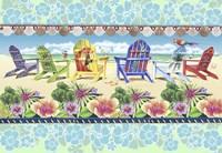 Coastal Chairs Floral Fine-Art Print