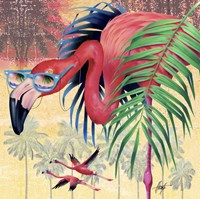 Cool Flamingoes Fine-Art Print