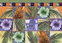 Quilt Palm Flower Mosaic Fine-Art Print
