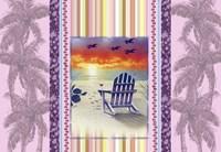 Sunset Chair Palm Fine-Art Print