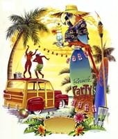 Woodie Beach Party Fine-Art Print