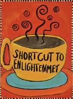 Shortcut To Enlightenment (Border) Fine-Art Print