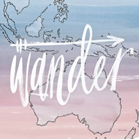 World Traveler Wander Framed Print